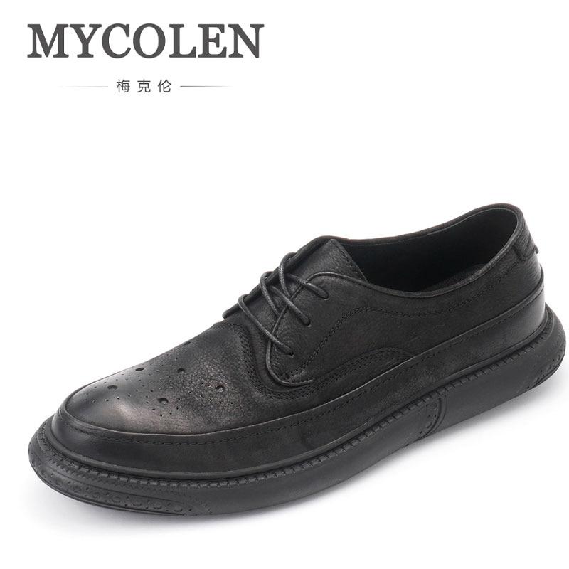 brown Vintage Para Moda Lace De Nueva Casual up Partido Brogue Conducción Clásico Planos Tallado Mycolen Oficina Hombre Zapatos Cuero Black wH56Xn5x