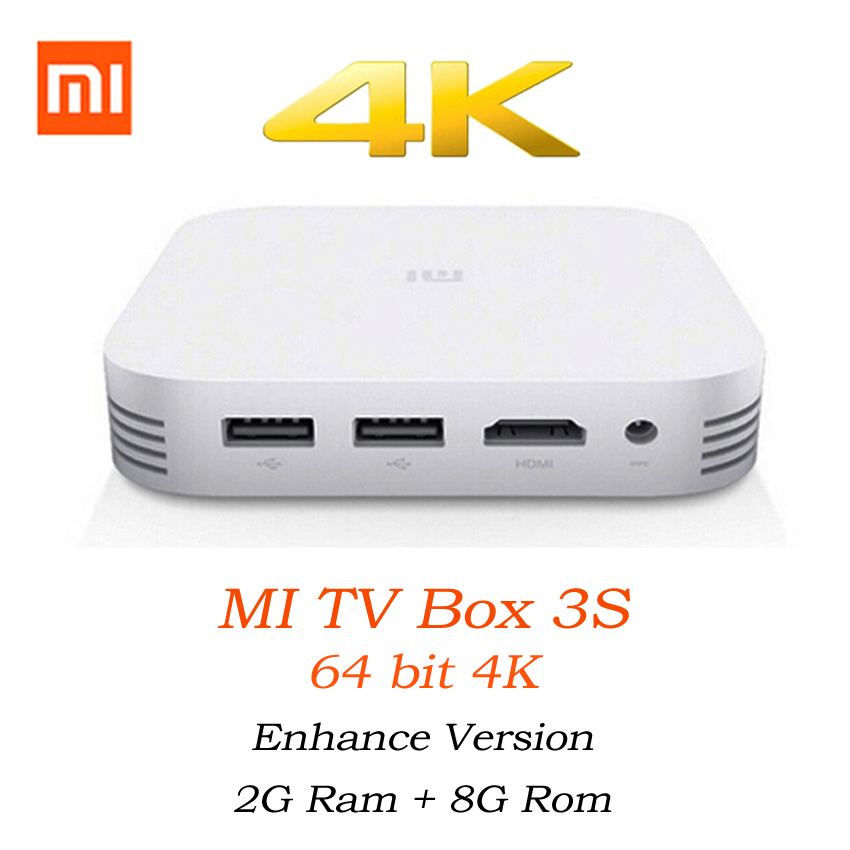 Original Xiaomi MiBox 3 Pro 3S Mi Android Dual Core Smart TV Box 4K HD Miorring 2.4G 5G Wi-Fi Wireless DLNA Motion Only Chinese wi fi роутер mi router 3