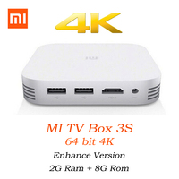 Original Xiaomi MiBox 3 Pro 3S Mi Android Dual Core Smart TV Box 4K HD Miorring