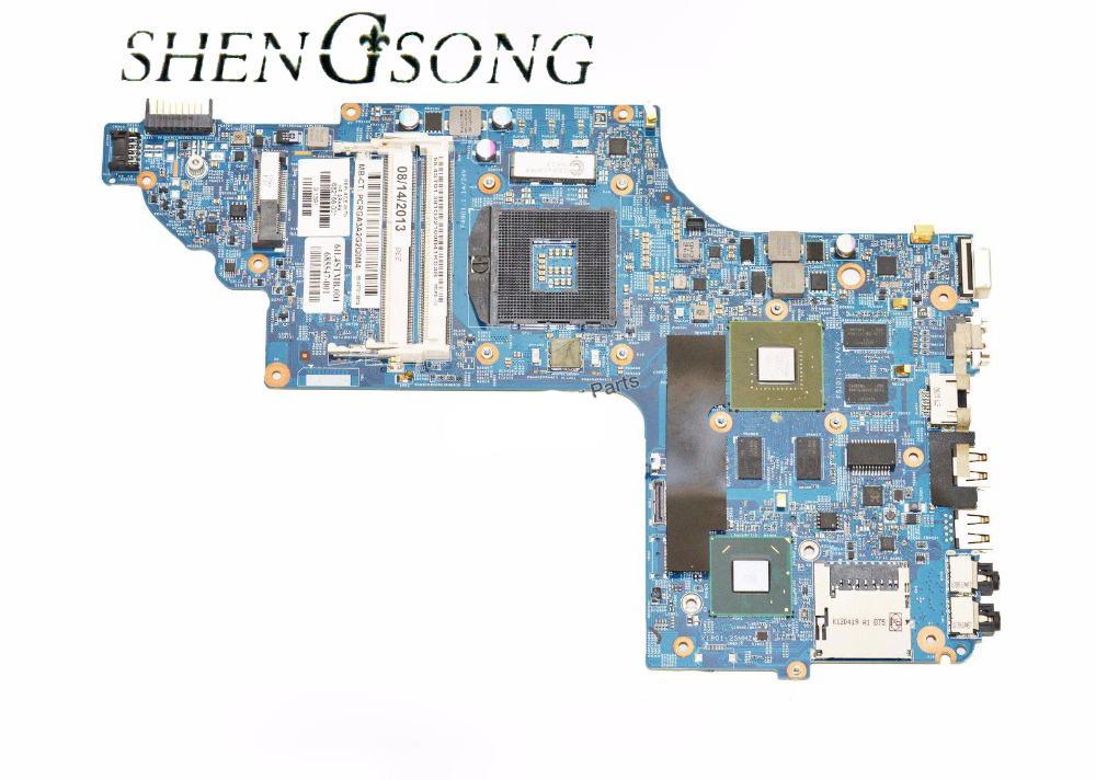 682168-001 682168-501 Motherboard Free Shipping For HP Pavilion DV6-7000 Laptop Motherboard SLJ8C HM77 PGA989 DDR3 630M free shipping da0up6mb6f0 605698 001 for hp pavilion dv7 3000 laptop motherboard pm55 ddr3 suppy core i7 only geforce gt320m