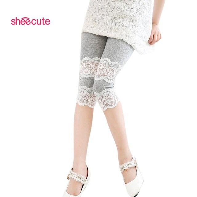 girls calf length leggings  baby kins 7th leggings lace shorts pants trousers