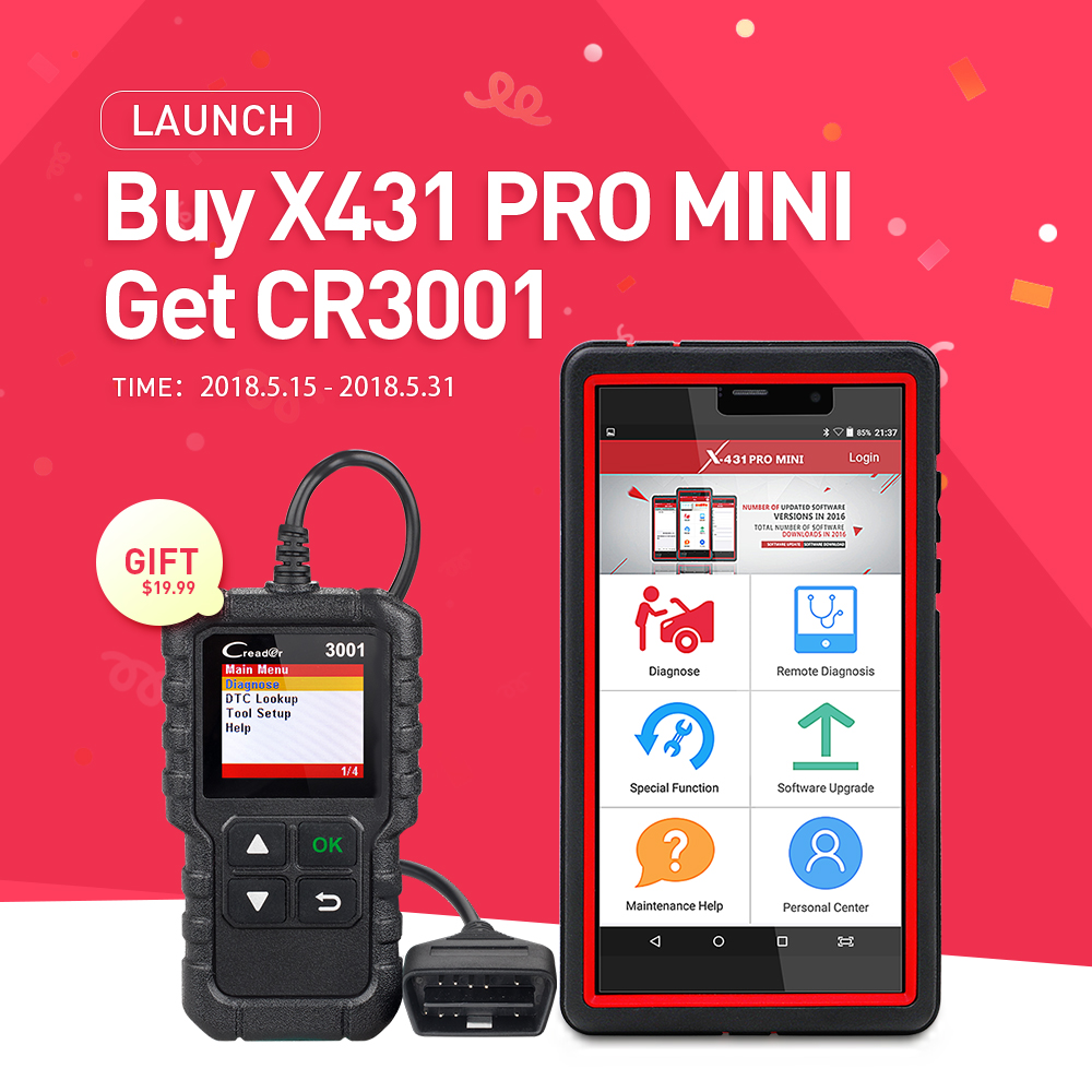 LAUNCH X431 Pro Mini Bluetooth/Wifi Full ECU auto diagnostic tool with 2 year free update Launch X-431 Pro Pros Mini Scan Tools