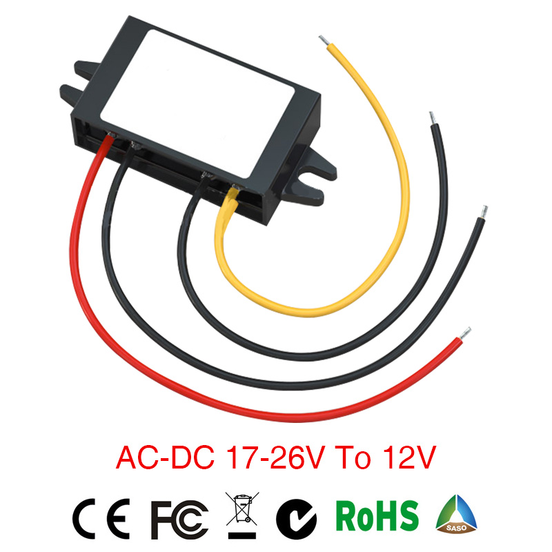 2018 Grid Tie Power Supply Converter Ac/dc Step-down 17-26v To 12v 1a Waterproof Control Inverter Car Module Size 46*32*18mm