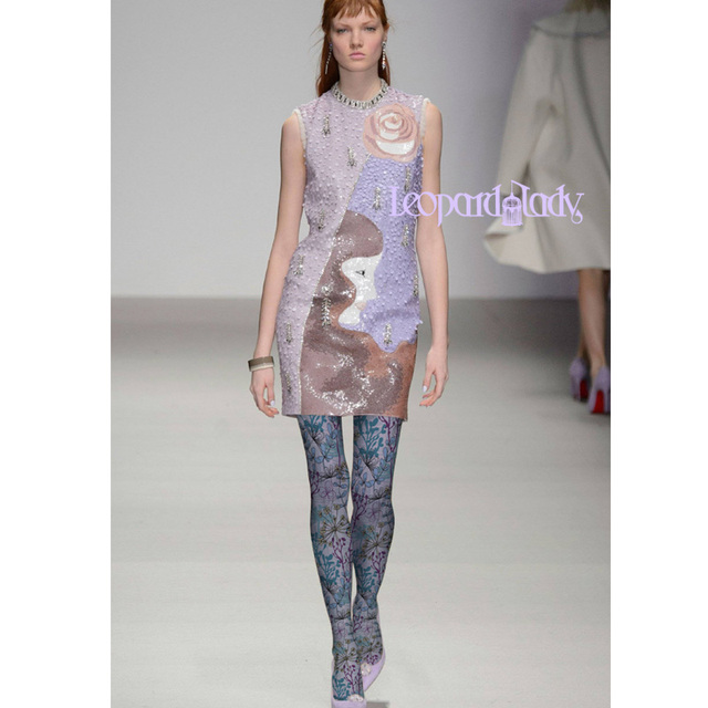 Stockings Print Cotton Polyester Time-limited Rushed Tights Fashion Runways Pantyhose Woman Flower Printing Render Stocking