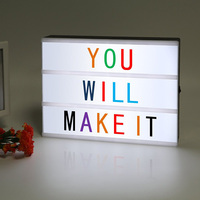 A4 LED Cinematic Light Box with Colorful Letters and LED Light ,Letter LED Light box for Home and Wedding Decor