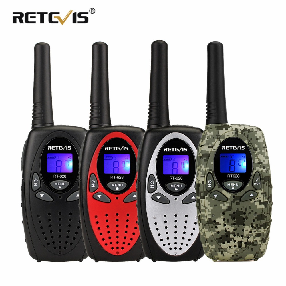 2 pz RT628 Bambini Retevis Walkie Talkie Ricetrasmettitore di Frequenza UHF Portatile 0.5 w 446 mhz Display LCD Giocattolo Radio Communicator a1026