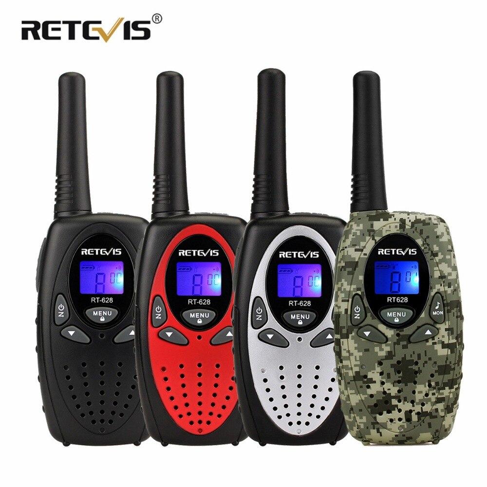 2 pz Retevis RT628 Mini Walkie Talkie Per Bambini Radio 0.5 w PMR PMR446/FRS VOX Portatile A Due Vie Radio stazione di Comunicador Regalo Del Bambino