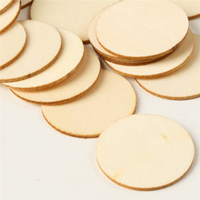 50pcs/lot Vintage Natural Blank Round Wood Pieces Slice Crafts for DIY Ornaments Children Kids Party Decorative Accessories