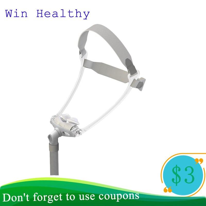 BMC WNP oreiller Nasal CPAP masque Silicone Gel SML taille coussin tout en masque de sommeil médical pour ronflement et traitement de l'apnée avec ceinture