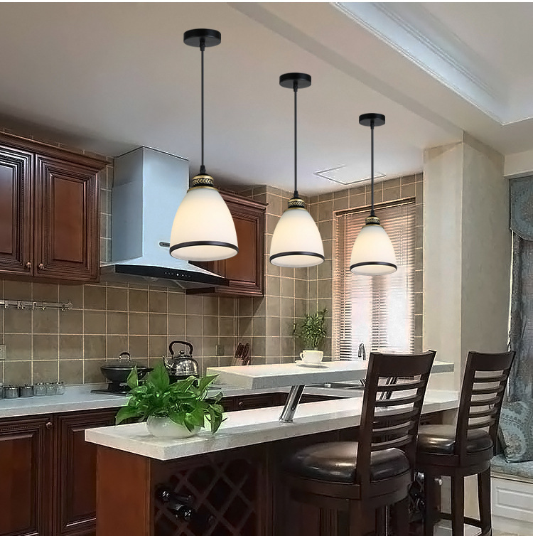 Modern Minimalist Set of 3 Kitchen Island Dining Room Glass Pendant Light (9)