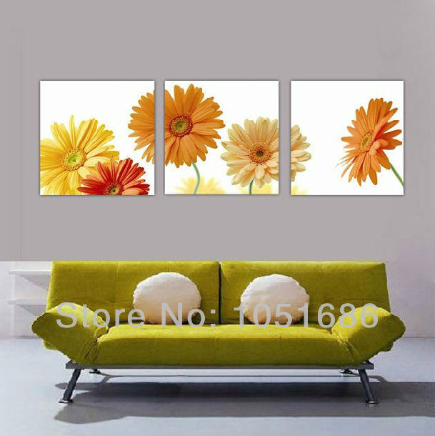 Hand painted modern 3 piece wall art canvas set oil for 3 piece wall art