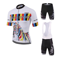 VAGGE 100 Polyester Gel Pad Cycling Wear Sublimation Bicycle Wear Bike Jersey High Quality Fashion Cycling