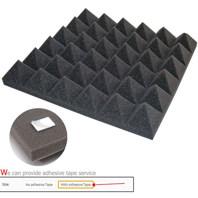 30x30x5cm Soundproofing Foam Studio Acoustic Sound Treatment Absorption Wedge Tile Fire-resistant