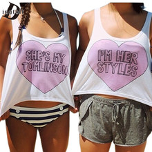 Dingtoll Hot Harajuku Harry Paar Shirts Voor Beste Vrienden BFF BESTE Wit Zomer Cool Crop Tops Tumblr WCT32(China)