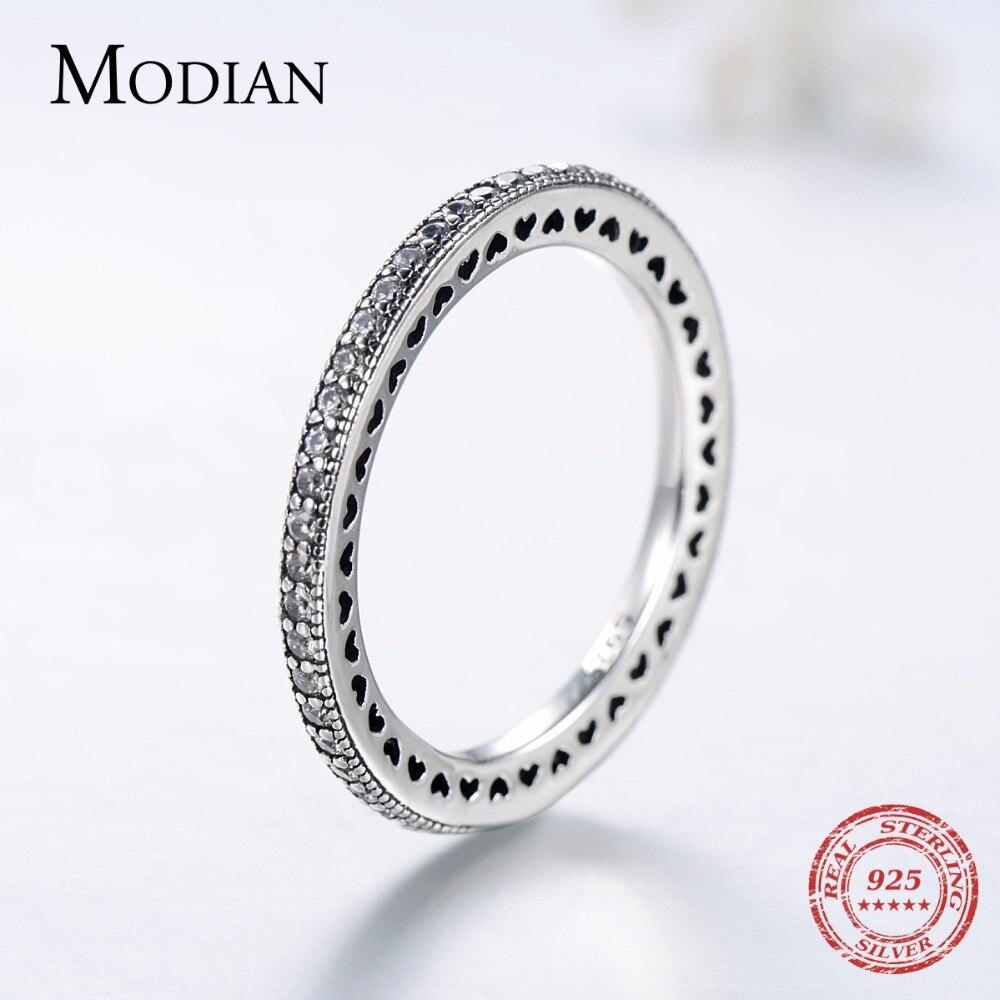 טבעת ללבות אותנטית מכסף אמיתי 5