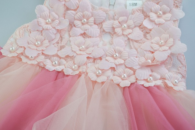 Girls Floral Tulle Party Dress