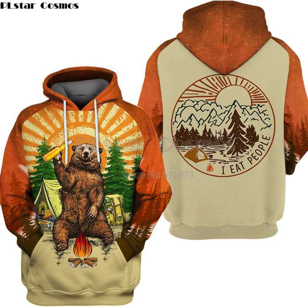 1 3d Hate Camping People Dream I Bear Men's Hoodie 8XZnPwO0Nk