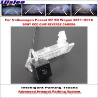 Intelligent Parking Tracks Rear Camera For Volkswagen VW Passat B7 5D Wagon 2011 2016 Reverse RCA