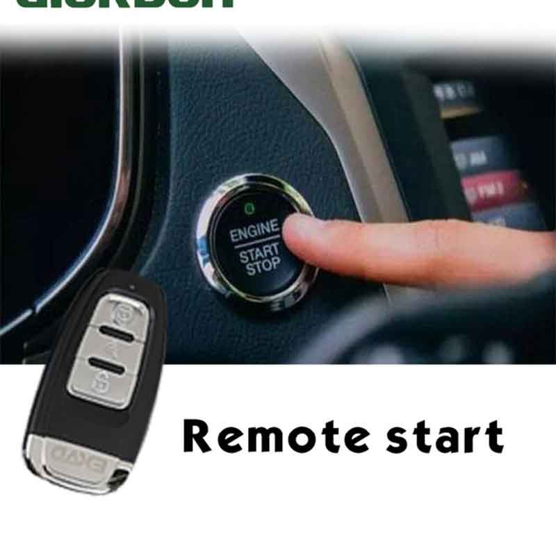 Car alarm with auto start Start stop Car security Central locking key fob  alarm With antenna Car alarm Keyless entry system PKE