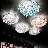 Lovely Flower Acrylic LED Ceiling Light For Wedding Decoration White Black Blue Purple Color Ceiling Lamp