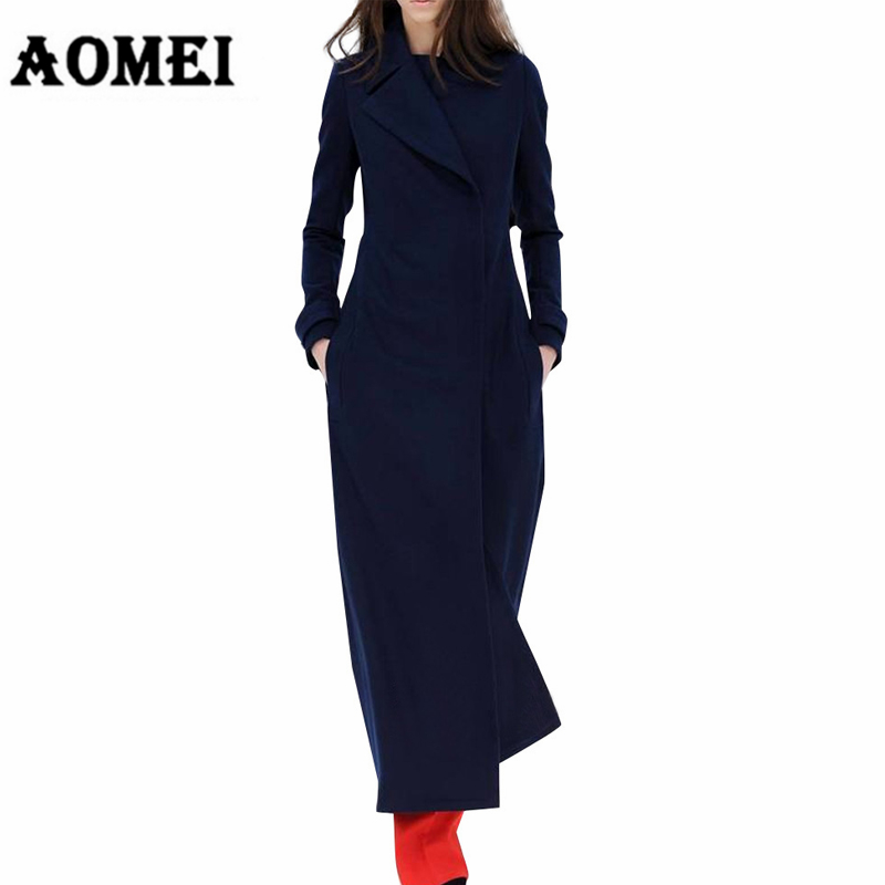 Winter Woman Coats 2019 Autumn Cassic Simple Woolen Maxi Long Female Robes Outerwear Manteau Femme Cardigans