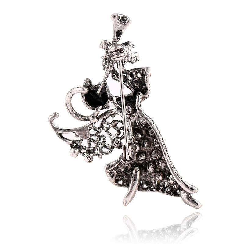 Cindy Xiang Vintage Rhinestone Malaikat Gadis Bros untuk Wanita Elegan Pin Hadiah Natal Terbaik Perhiasan Mantel Gaun Aksesoris