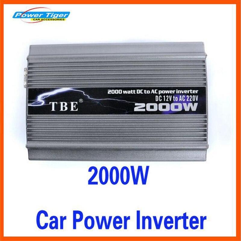 2000 Вт пик Мощность 2000 Вт автомобильный преобразователь Мощность инвертор DC 12 В к AC 220 В инвертор модифицированный синус волна Авто электронн...