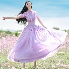 Dresses Bohemian Purple Boshow