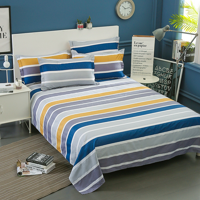 Image 2 - Wongsbedding 100% Cotton Stripe Duvet Cover Sets Quality Bedding Set Twin Full Queen King Size 3/4PCS Sheet Beddings-in Bedding Sets from Home & Garden