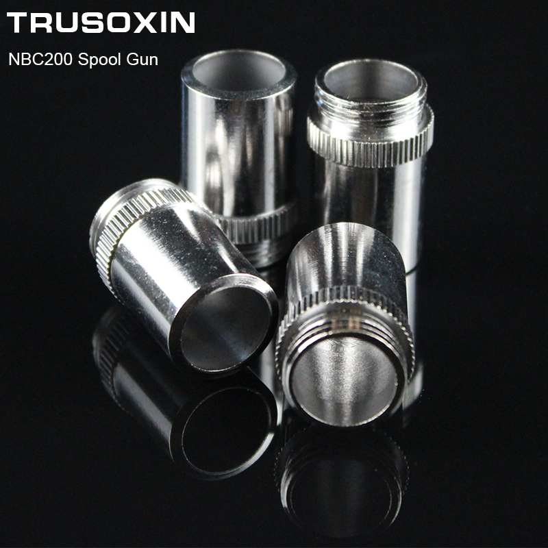 7pcs MIG NBC200 Spool Gun Torch Head Accessory Consumables Shield Cups For MIG MAG NBC Welding Machine