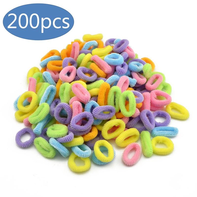 200 шт., Детские резинки для волос, яркие цвета
