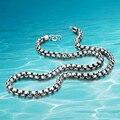 Настоящий мужчина стиль серебряная цепь ожерелье, 925 твердых чистого серебра ювелирные изделия; Приемлемым оптовая, Горячие продажи!!!