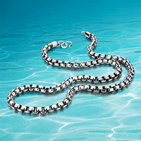 Real man style sterling silver necklace,925 Thai silver necklace for men;Vintage Jewelry cool men Fashion Hot sale!!! Width 6MM