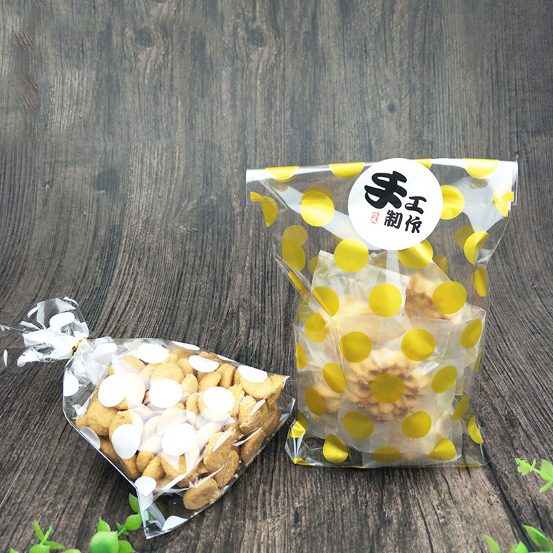 Transparent Cellophane Toast Cookie Wedding Favors Candy Wrap Bags