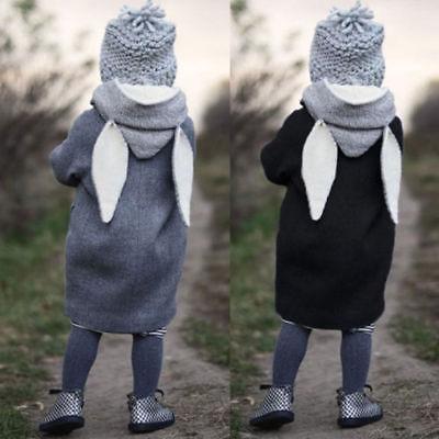 Kids Baby Girls Winter Warm Cotton Hoodies Outwear Cloak Button Jacket Coat 1-5T Jacket For Girls