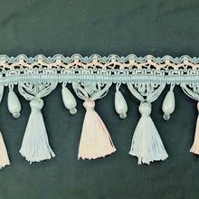 1yard Fringe Rhinestone Beaded Trim Tassel Lace Ribbon Decorative Trimming Fabric for curtain DIY Sewing Accessories