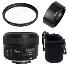 Yongnuo YN35mm F2N lens Wide-angle Large Aperture Fixed Auto Focus Lens+58mm UV filter +lens bag+Lens Hood For Nikon D7100 D3200