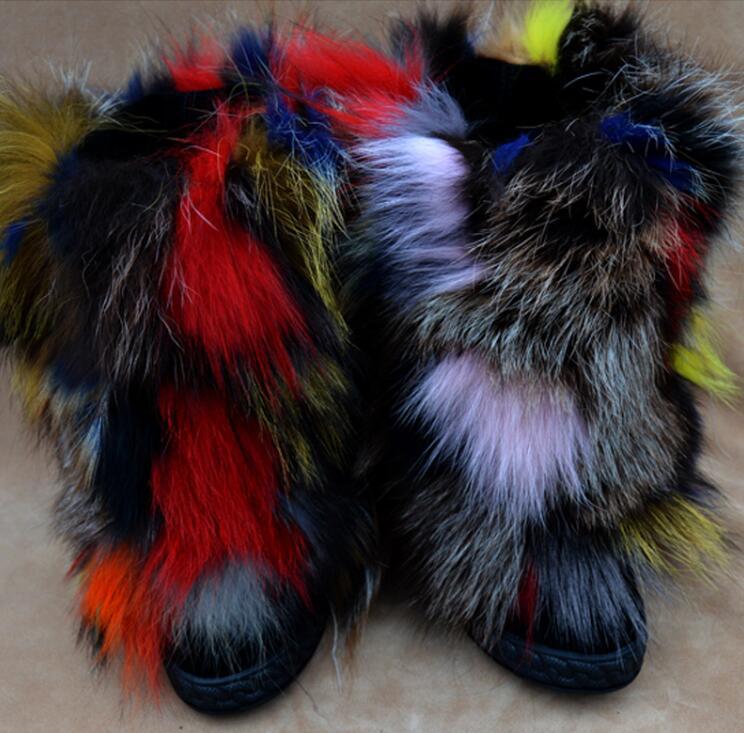 Tobillo As Zapatos Aumento Beertola Colores De La Las Redonda Mujeres Mezcló Top Nieve Dedo Piel Lujo Altura Pie Invierno Botas Caliente Del Picture n1agFH1wq