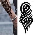 Лидер продаж; Черные Временные татуировки, боди-арт татуировки 3D Водонепроницаемый Временные татуировки Стикеры арт Для мужчин рука нога п...