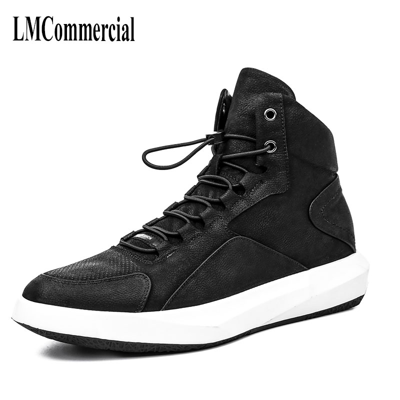 winter men's high shoes leather boots Martin trend of Korean men with warm cotton shoes and leisure shoes cowhide cashmere boots warm winter high shoes male young men leisure shoes martin boots men cowhide cashmere zipper leather boots breathable