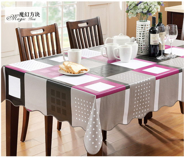 Hot Sale European Waterproof Table Cover Plastic Pvc