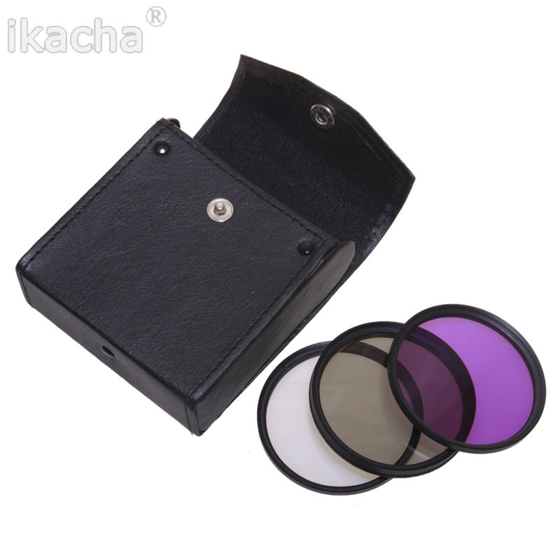 52mm 55mm 58mm 67mm 72mm Polarized CPL+UV+FLD CAMERA FILTER Kit Bag for Nikon D3200 D5000 D5100 D7000 D40 D60 with 18-55mm Lens светофильтр polaroid uv cpl fld warming 52mm набор фильтров pl4fil52