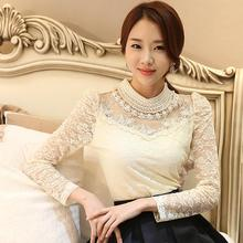 2018 Sexy Lace Tops Autumn bluses
