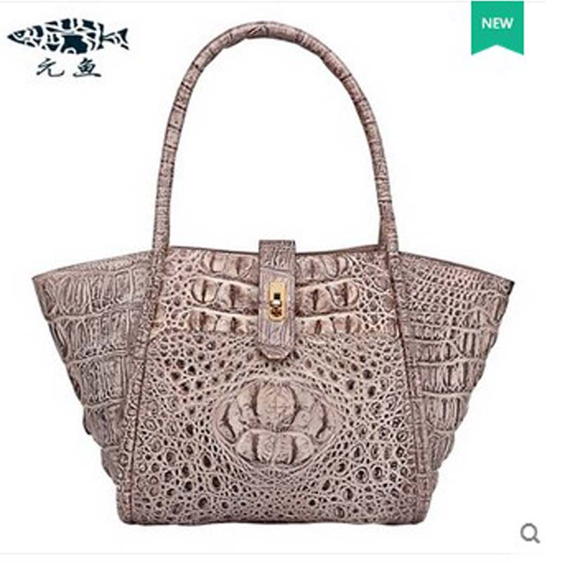 2018 yuanyu  new hot free shipping real crocodile women handbag crocodile handbag lady high-end hand women bag yuanyu 2018 new hot free shipping crocodile women handbag wrist bag big vintga high end single shoulder bags luxury women bag