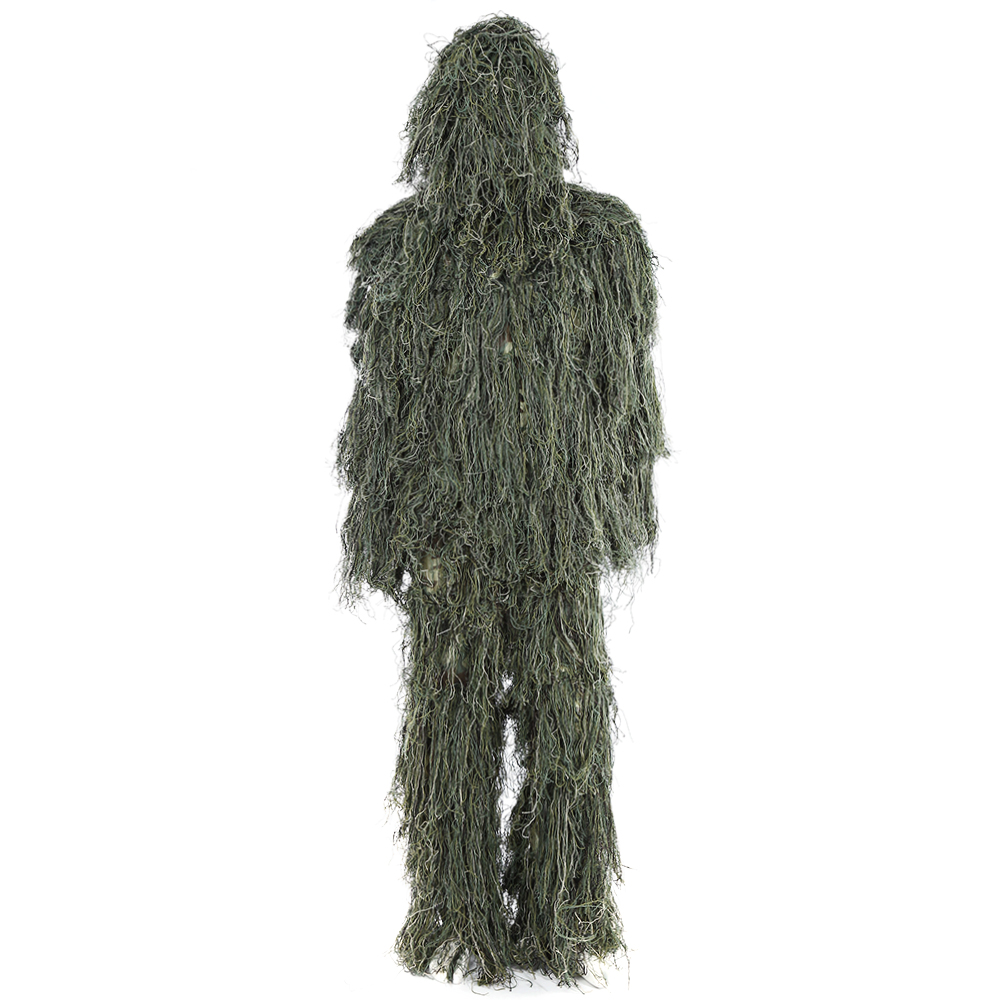3D Universal Ghillie Suit Set Wildlife Photographing Military Tactical Camouflage Jungle Woodland Poncho Training Hunting Cloth cs camouflage suits set bionic disguise uniform hunting woodland sniper ghillie suit hunting jungle military train cloth s049
