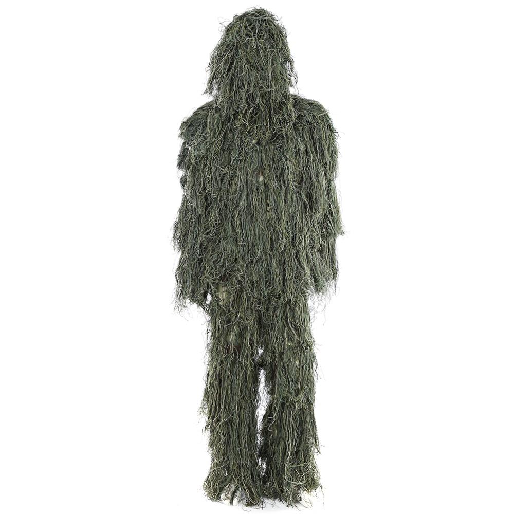 Universal 3D Ghillie Costume Ensemble La Faune Photographier Militaire Tactique Camouflage Jungle Woodland Poncho Formation Chasse Tissu