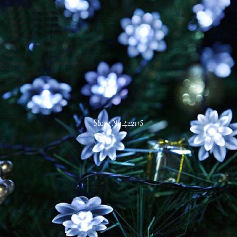 Whitewarm whitergb christmas garden outdoor garland fairy lights whitewarm whitergb christmas garden outdoor garland fairy lights solar led string lights 48m 20 led lotus lamps luces navidad in led string from lights mozeypictures