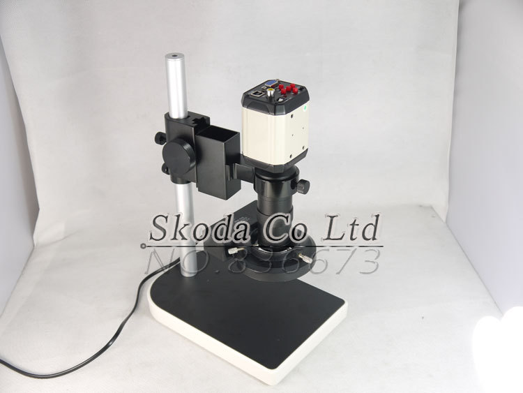 3 in1 Digital Industrial Microscope Camera VGA USB CVBS TV outputs+56 LED ring Light+stand holder+130X C mount lens 3 in1 digital microscope camera vga usb cvbs tv outputs 56 led ring light stand holder 8 130x c mount lens for pcb lab repair