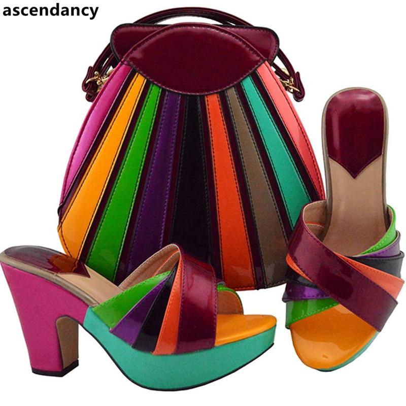 3bbd64fc Nuevo Con Mujer Italia oro azul De Boda plata Lujo Diseñador Alta Zapatos  lime Vestido vino Juego Tacón Bolsos ...
