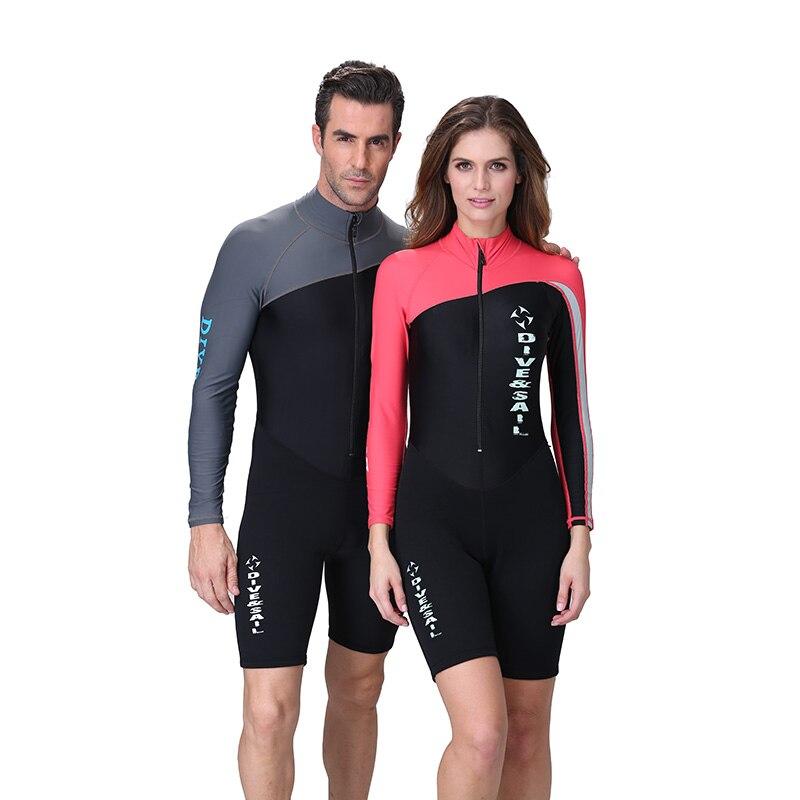 eba09d92d1 Men Neoprene Wetsuits Surf Suit Long Sleeve Diving Suits Women Swimwear  Fishing Clothing Sport Scuba Swimsuits
